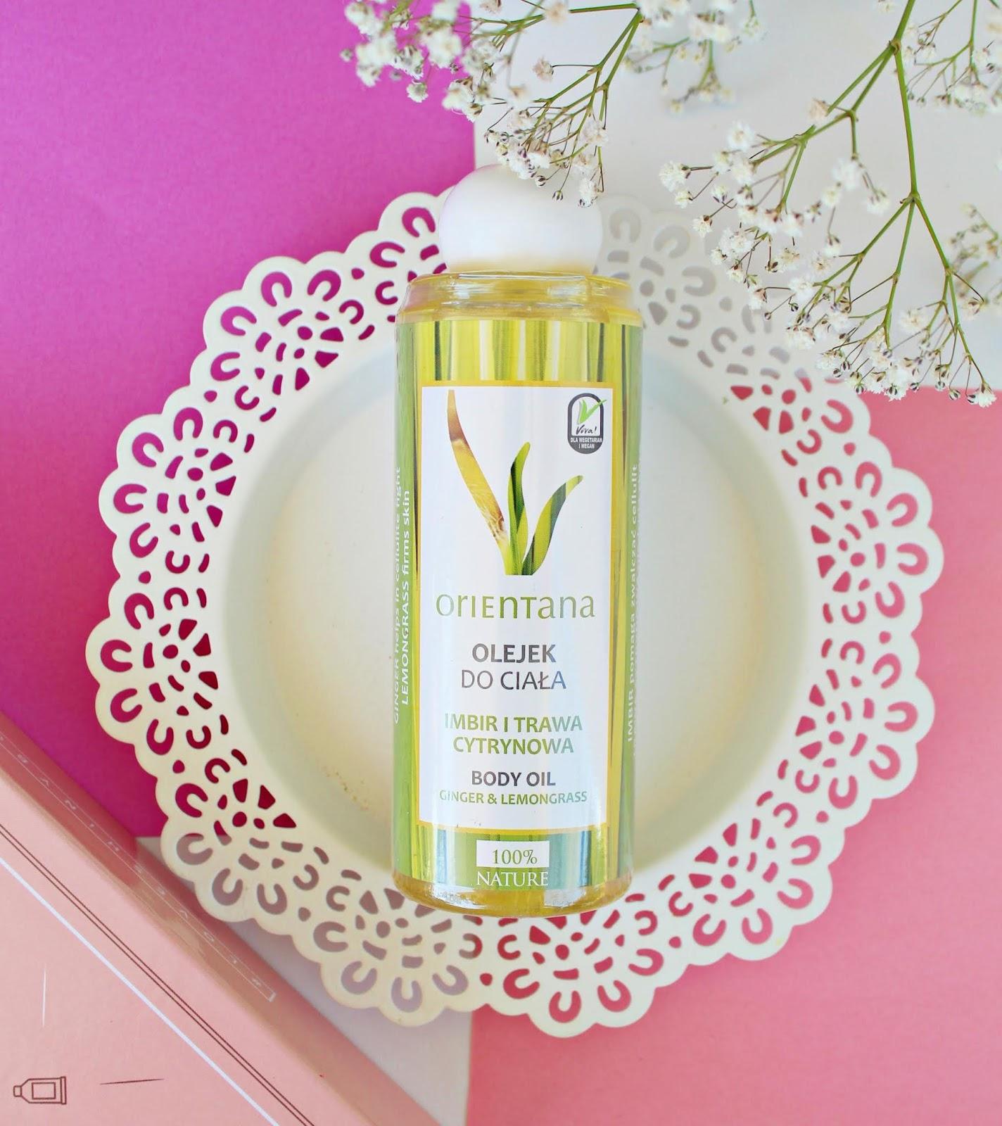 Naturalny olejek do ciała imbir i trawa cytrynowa marki Orientana