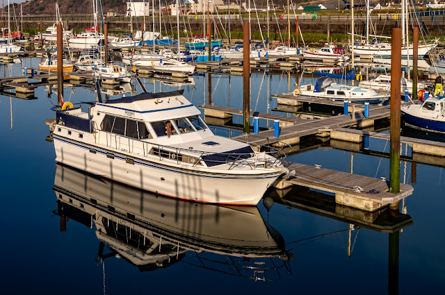 Photo of Ravensdale at Maryport Marina taken during one of my daily exercise sessions this week