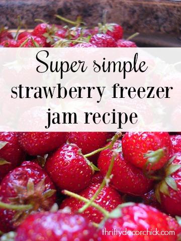 simple strawberry freezer jam