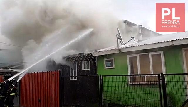 Osorno: incendio deja a una familia damnificada