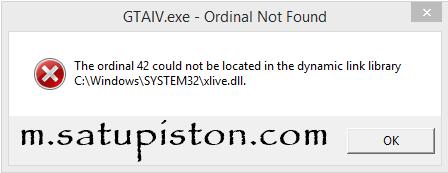 Atasi GTA IV Fatal Error: WS10 dan GTAIV.exe – Ordinal Not Found (Fixed on Window 8.1)