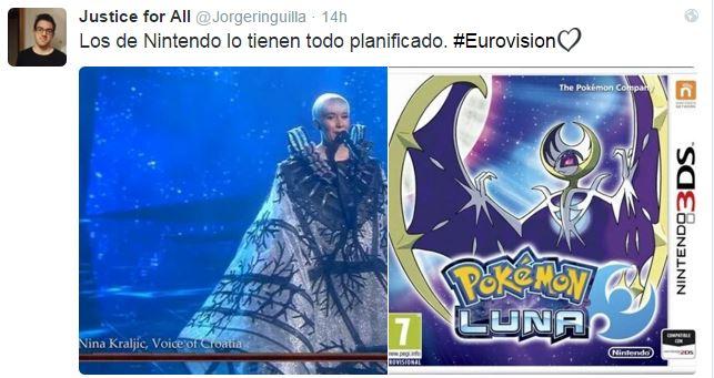 Eurovision pokemon luna nintendo