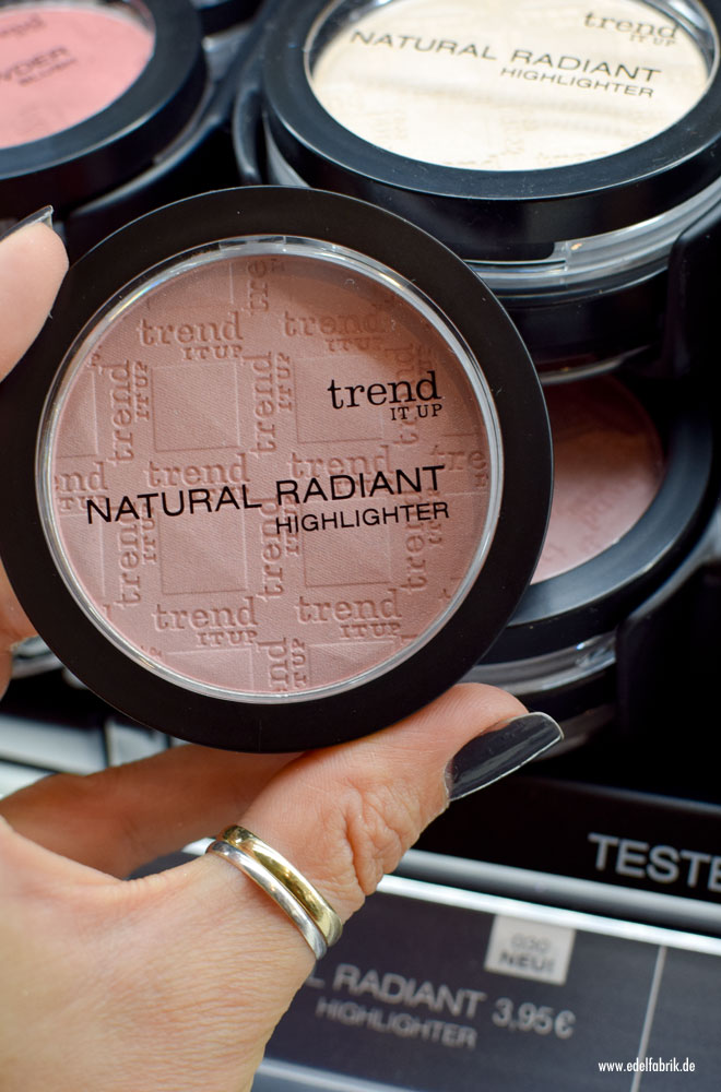 trend IT UP Natural Radiant Highlighter, neues Sortiment, Sortimensupdate,2017