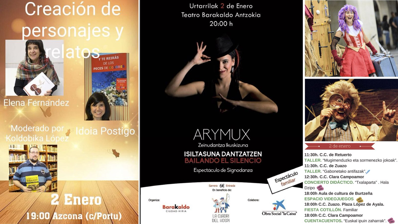 Barakaldo Digital: Agenda | Charla literaria + teatro de Hortzmuga + ...