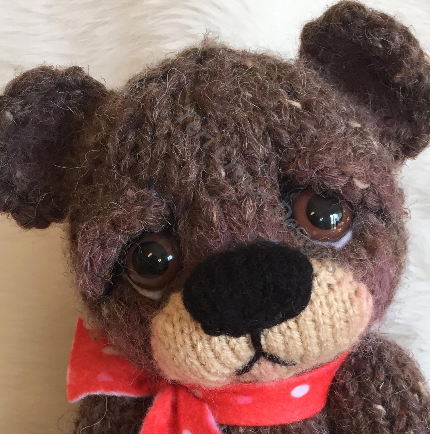 Teri\'s Blog: New Sweet Knit Bear A Knitting Pattern At Last