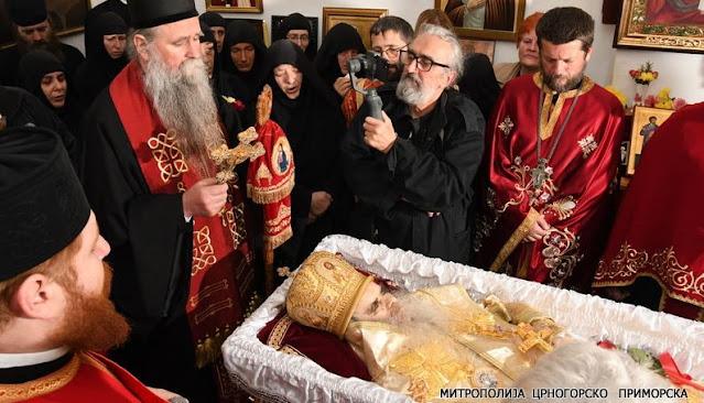 Помен Митрополиту Амфилохију у Цетињском манастиру (видео)