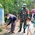 Awasi Prokes Babinsa Pantau Hajatan Di Desa Kepoh