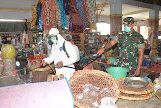 Pasar di Kota Mataram Disemprot
