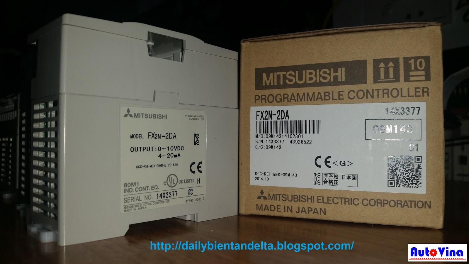 Module chuyển đối tín hiệu số ra analog PLC Mitsubishi FX2N-2DA