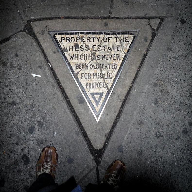 Hess Triangle: La parcela privada más pequeña de Nueva York | Estados Unidos