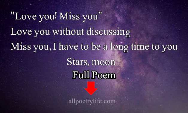 """English Love Poems - """"Love you! Miss you"""""""