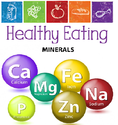 Important minerals in a healthful diet
