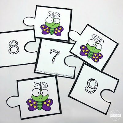 spring counting activity for preschool and kindergarten age kids
