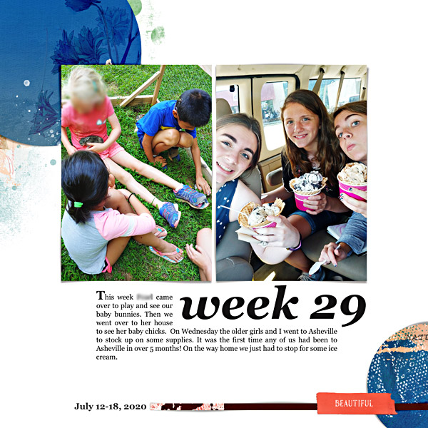 Week 29 Digital Scrapbook Page