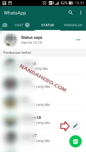 Cara Buat Status Tulisan di WhatsApp Versi Baru