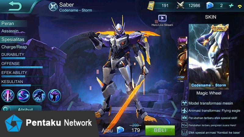 Skin Terbaru Saber, Codename - Storm