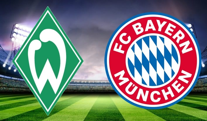 The Bayern Munich and Werder Bremen live match details in the German League
