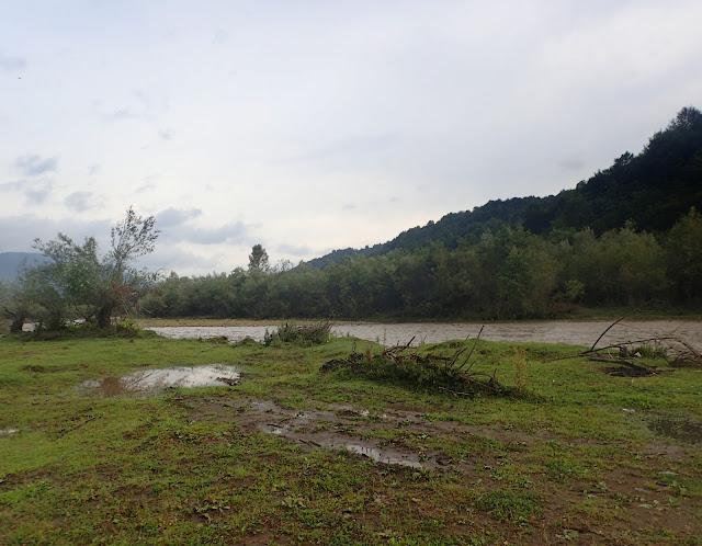 Kołoczawa - rzeka po ulewie (lipiec 2017)