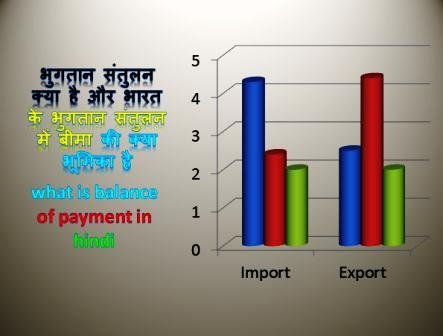 what is balance of payment in hindi