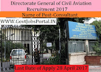 Directorate General of Civil Aviation Recruitment 2017– Consultant