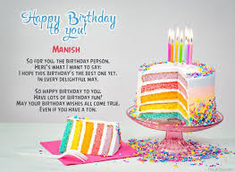 Happy Birthday Manish Image