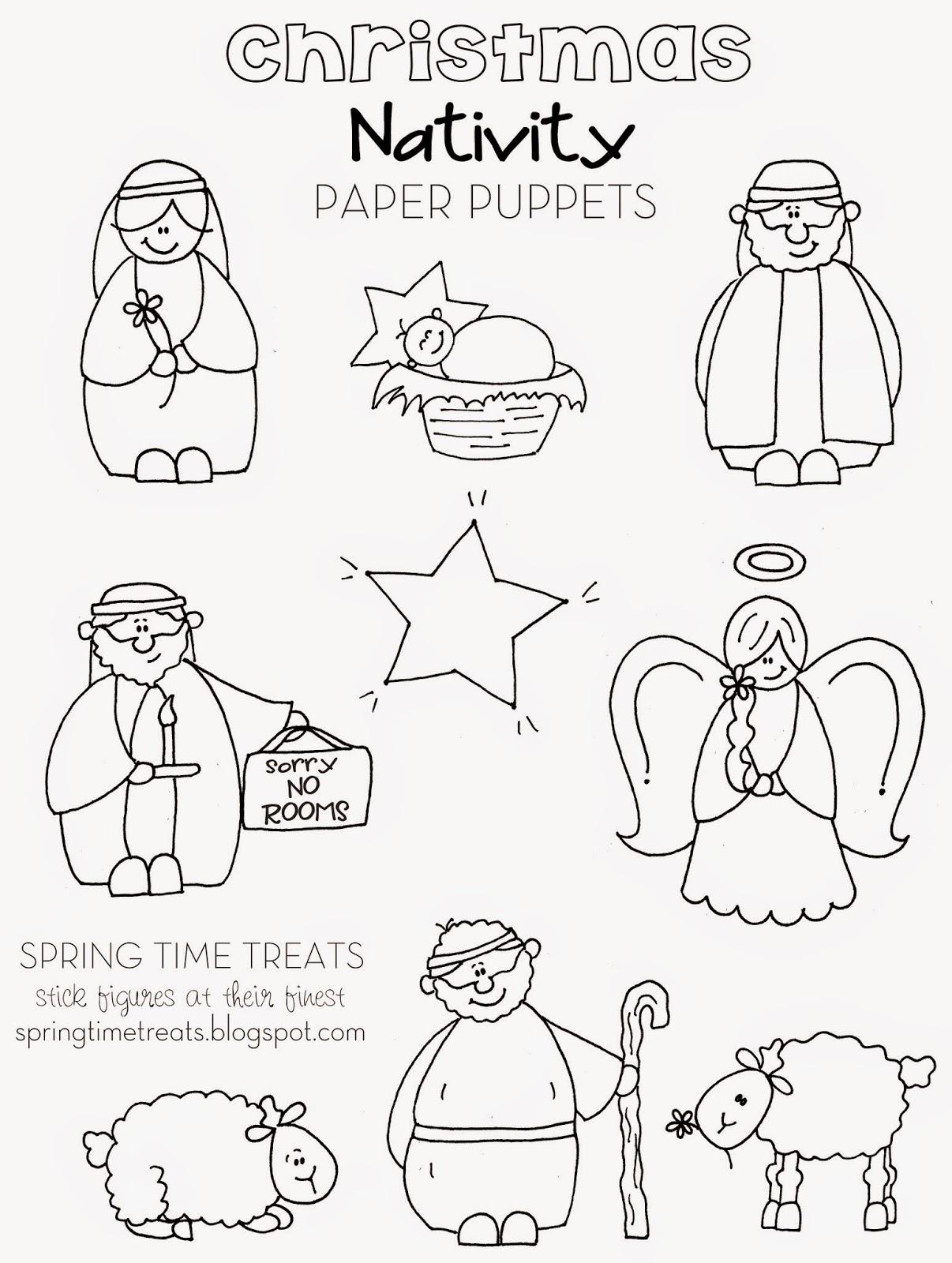 Nativity Paper Puppets