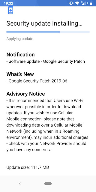 Nokia 3.1 receiving June 2019 Android Security update
