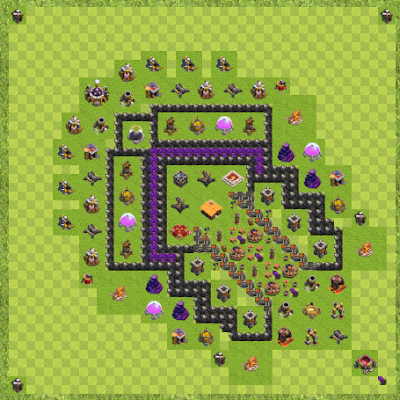 War Base Town Hall Level 9 By Brendan Gallagher (One Piece Ace Tribute TH 9 Layout)