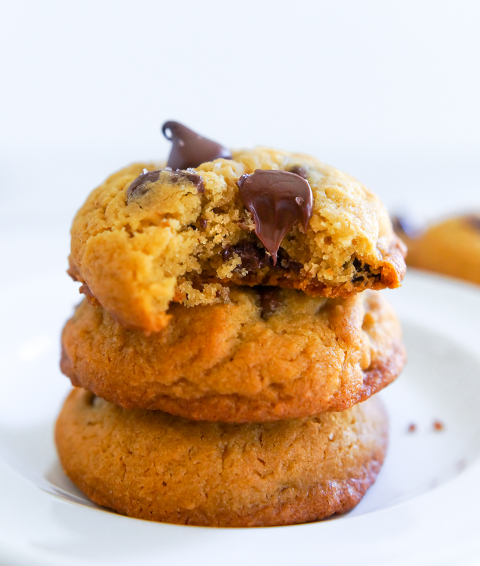 Chickpea Flour Chocolate Chip Cookies