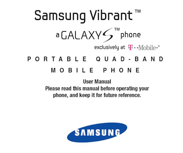 Samsung Vibrant T959 User Manual