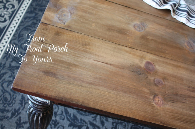 From My Front Porch To Yours Farmhouse planked table