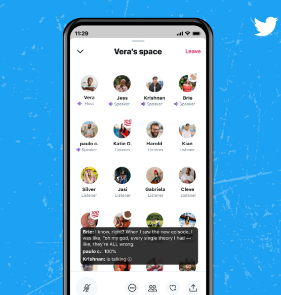 Twitter Launches Spaces, Open to Use With More Than 600 Followers