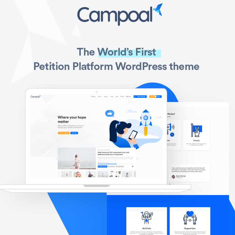 Campoal - Petition Platform & Fundraising WordPress Theme