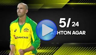 Ashton Agar 5-24 Including a Hat-trick vs South Africa Highlights