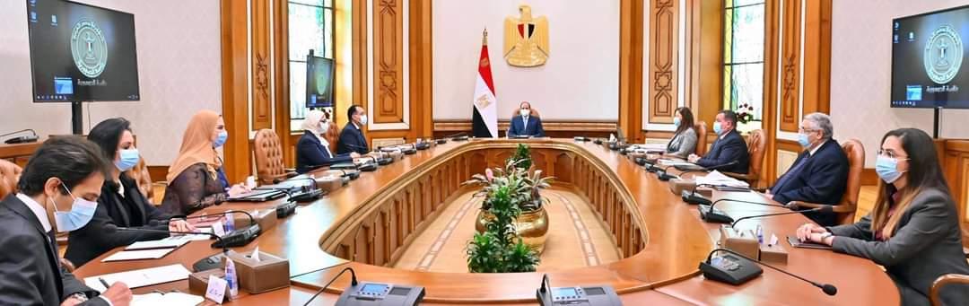 الرئيس السيسي يطلع على مخطط المشروع القومي لتنمية الأسرة المصرية