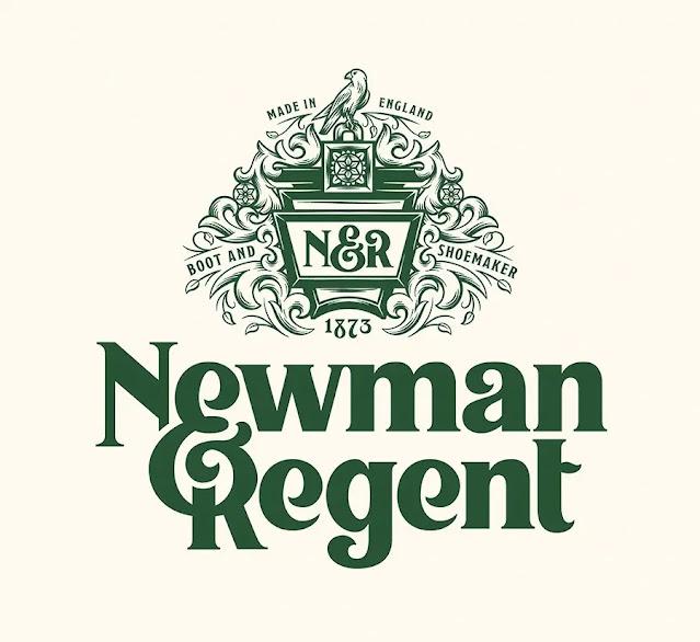 Logo of handmade leather shoe brand Newmen Regent (Image: Tobias Hall)