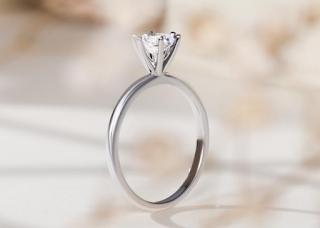 Nhẫn cầu hôn kim cương nhân tạo
