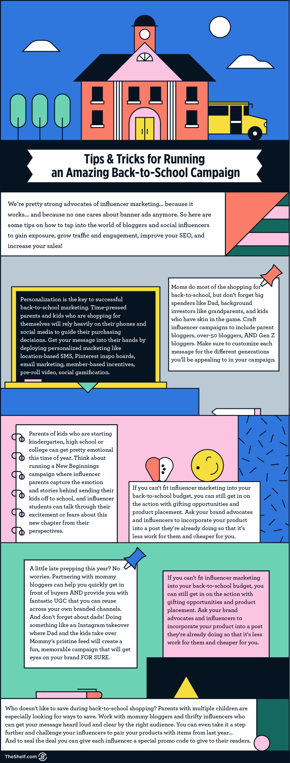 Tips and Tricks for Running an Amazing Back to School Campaign #infographic