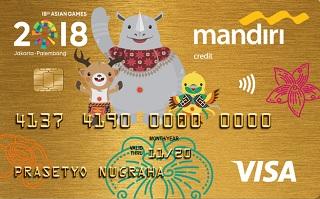 Gambar Kartu Kredit Mandiri Visa Gold