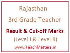 image : Rajasthan 3rd Grade Teacher Result 2017-18 Cut-off Marks @ TeachMatters