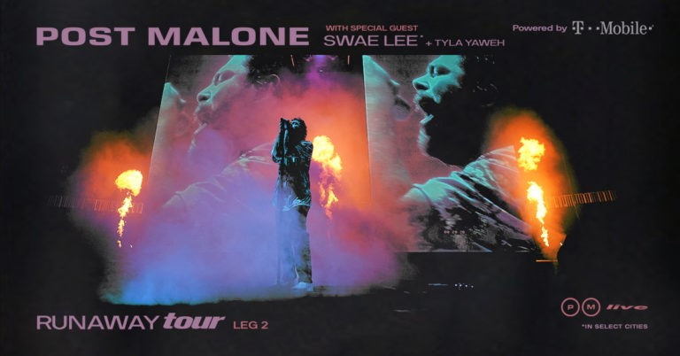 Post Malone 2020 Tour with Swae Lee and Tyla Yaweh Joining as Special Guests