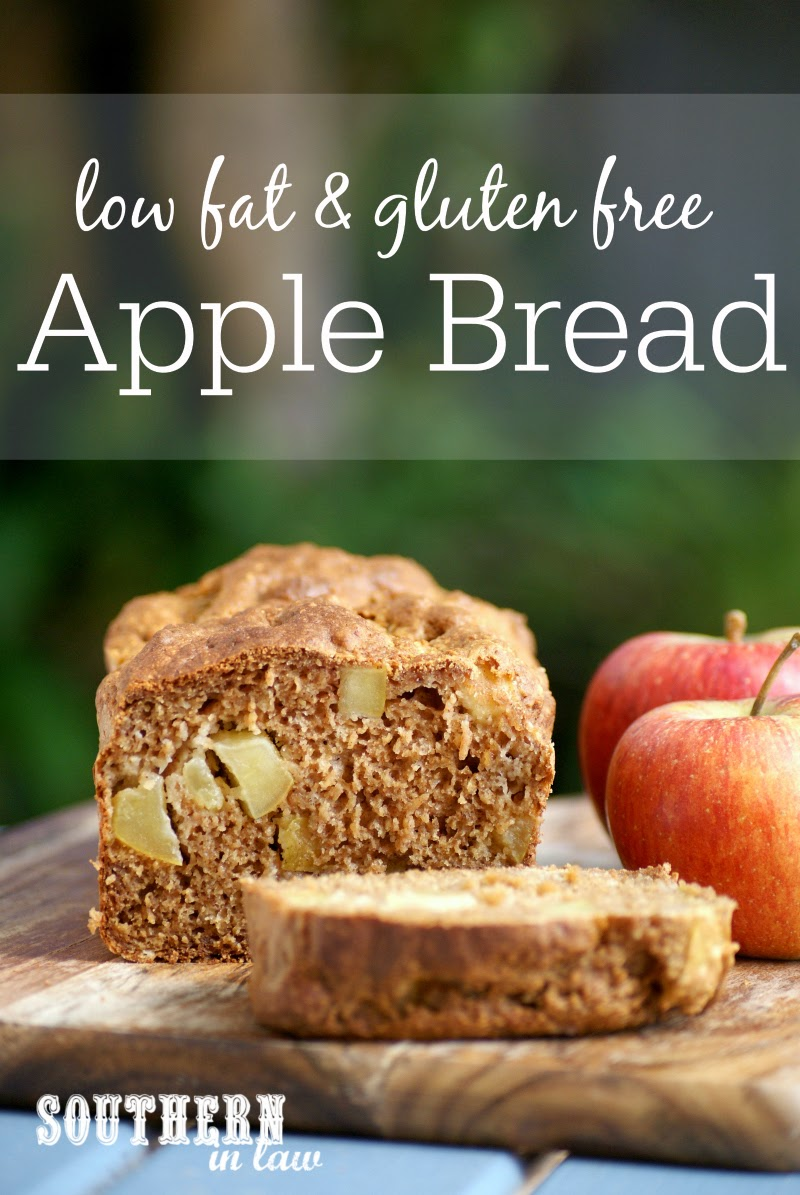 Low Fat Apple Bread Recipe | low fat, gluten free, healthy, clean eating friendly, refined sugar free