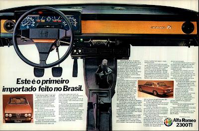 propaganda Alfa Romeo 2300 TI - 1977