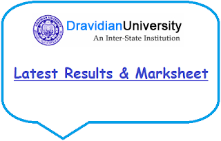 Dravidian University Results May June 2020