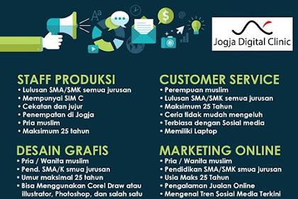 Info Lowongan Kerja Jogja Digital Clinic Yogyakarta