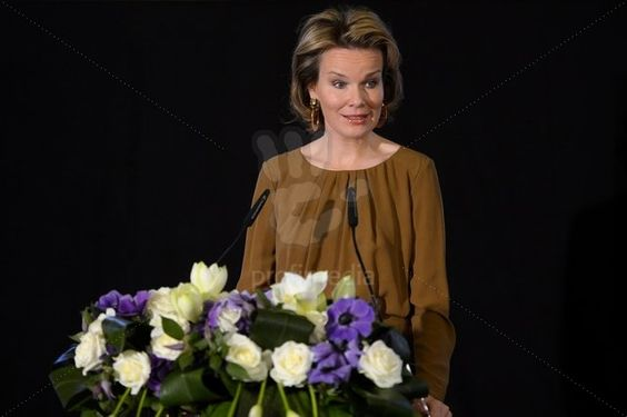 Crown Princess Mathilde of Belgium attended the first National Conference