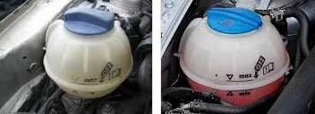 autó műanyag víztartály
