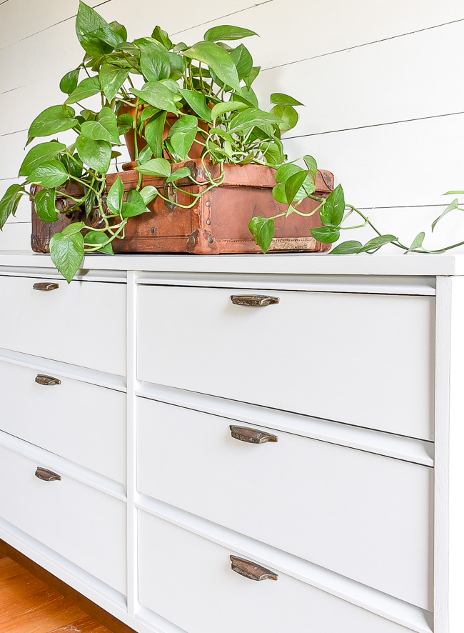 The Best Way to Paint Over Dark Stained Furniture   Little ...
