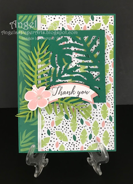 Stampin' Up! Tropical Chic card by Angela Lovel, Angela's PaperArts