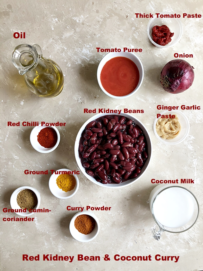 Red Kidney Bean And Coconut Curry Step By Step Video Recipe Jagruti S Cooking Odyssey